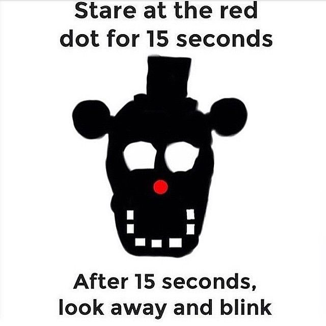 illusions optical fnaf dot stare wow illusion cool tricks eye hack brain freddy dots awesome visit away blink steven universe
