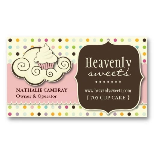 Fun and whimsical cupcake bakery business card bakery business fun and whimsical cupcake bakery business card flashek Images