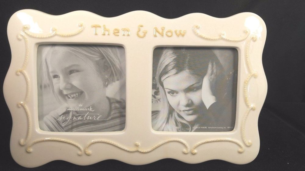 Hallmark Then And Now Ivory Porcelain Ceramic Hi Gloss Double