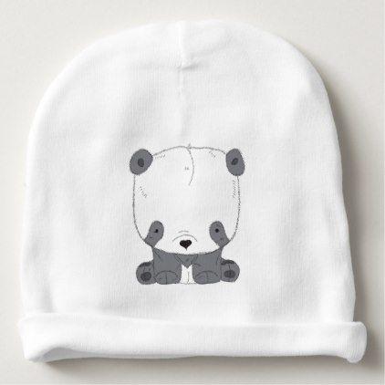 Cute PANDA bEAR Baby Beanie - kids kid child gift idea diy personalize design