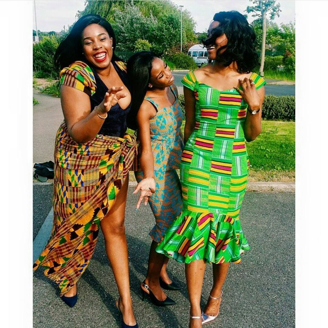 African wedding dresses for guests  I Do Ghana  Sisters Celebrating Their Brotherus Wedding  Wedding