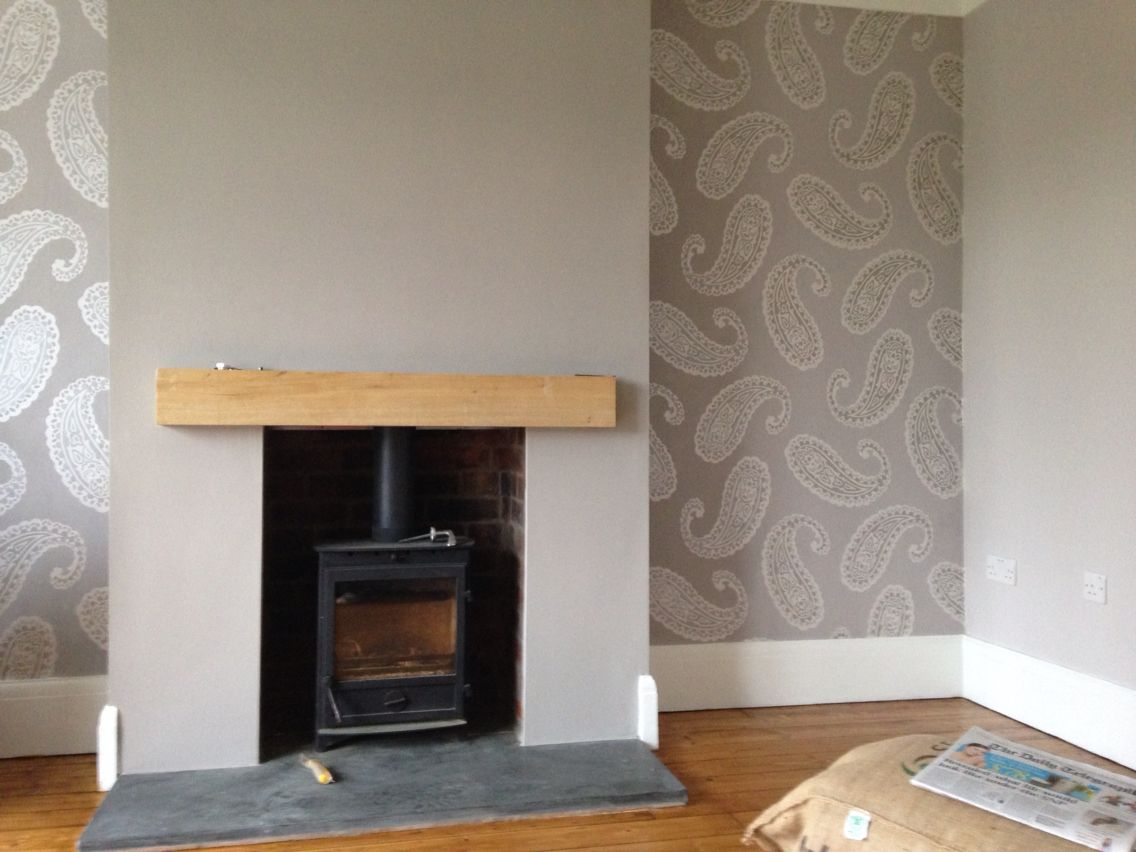 Wallpaper For Lounge Wall Part - 47: Very Pleased With How Our Lounge Has Turned Out. Wallpaper And Paint All  Laura Ashley
