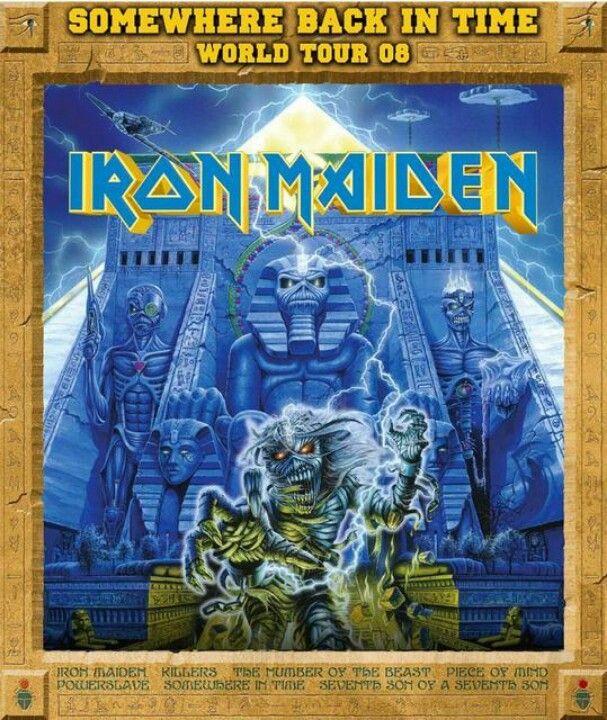 #ironmaiden un excelente disco y uno de mis favoritos somewhere... aquí el flayer de tour del 2008