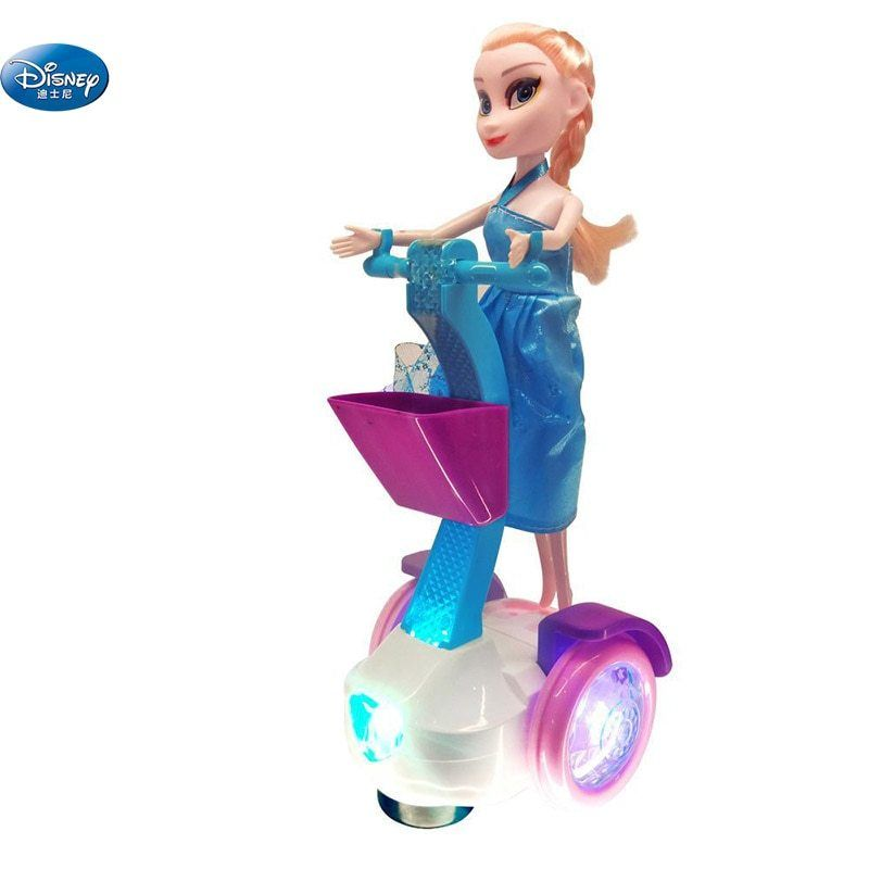 25 Cm Frozen Princess Elsa And Anna Dolls With Electric Car Balance Sound And Light Music Disney Toys Birthday Gift F Elsa And Anna Dolls Anna Doll Disney Toys