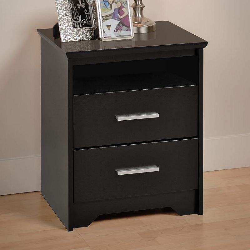 Prepac Coal Harbor Tall Nightstand Black
