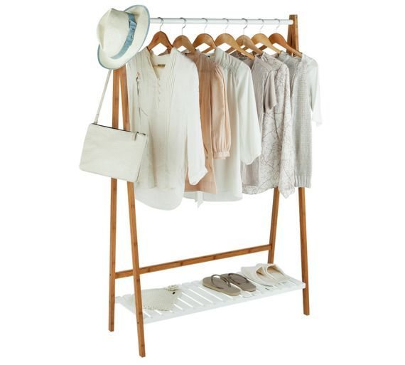 buy collection belvoir bamboo clothes rail with white. Black Bedroom Furniture Sets. Home Design Ideas