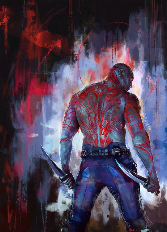 """You're an honorable man,Quill. I will fight beside you. And in the end, I will see my wife and daughter.   -Drax from """"Guardians of Galaxy-"""