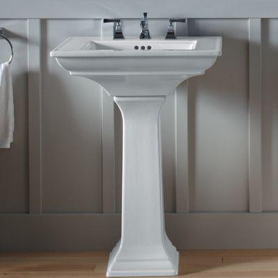 Memoirs Ceramic Pedestal Bathroom Sink With Overflow Modern