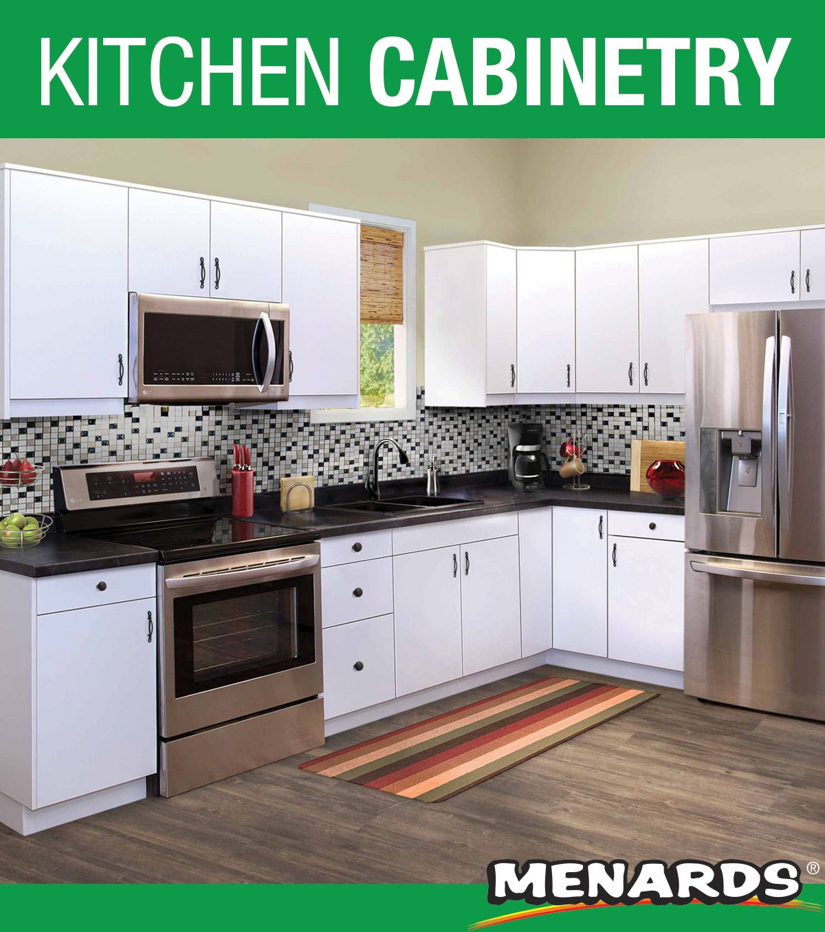 Klearvue Oland White L Shaped Kitchen W 10 Cabinet Cabinets Only In 2020 Menards Kitchen Kitchen Backsplash Images Kitchen Decor