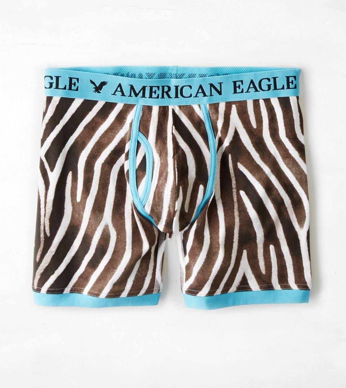 AEO Animal Print Athletic Trunk