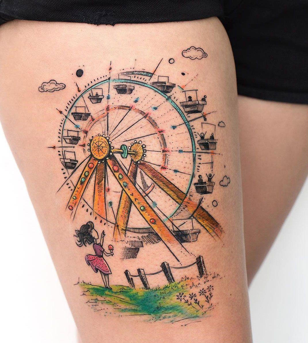 50 Ferris Wheel Tattoo Ideas For Men – Amusement Ride Designs 50 Ferris Wheel Tattoo Ideas For Men – Amusement Ride Designs new images