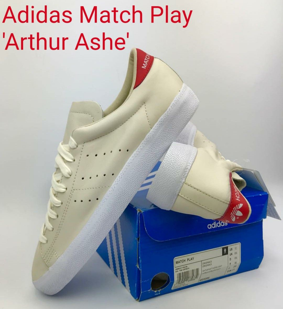 Superb pair of vintage Adidas Match Play 'Arthur Ashe