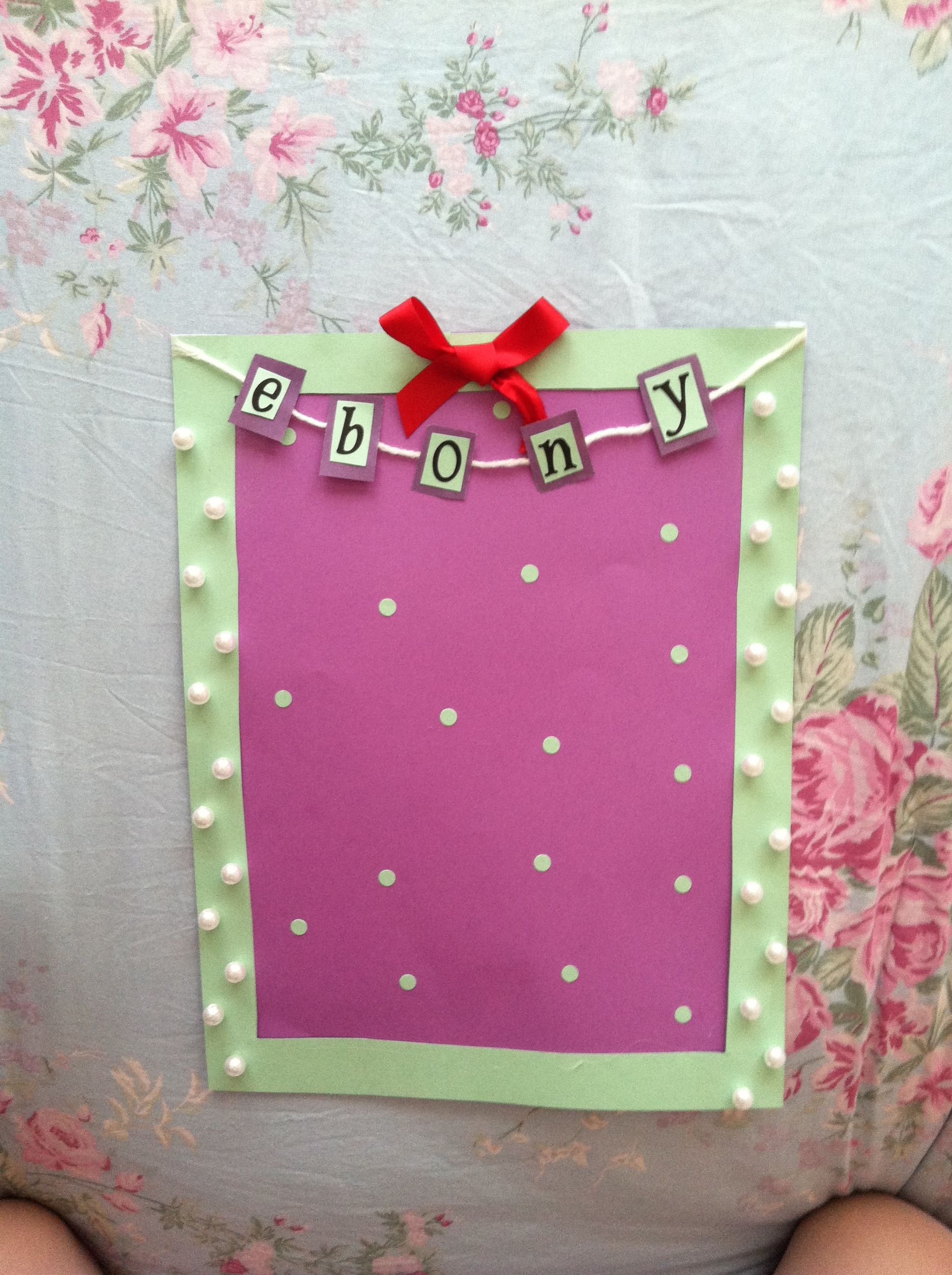 Decoration For Project Girly School English Project Starter Decoration Must Diy