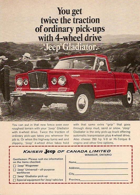 1966 Jeep Gladiator 3 With Images Jeep Gladiator Jeep Jeep