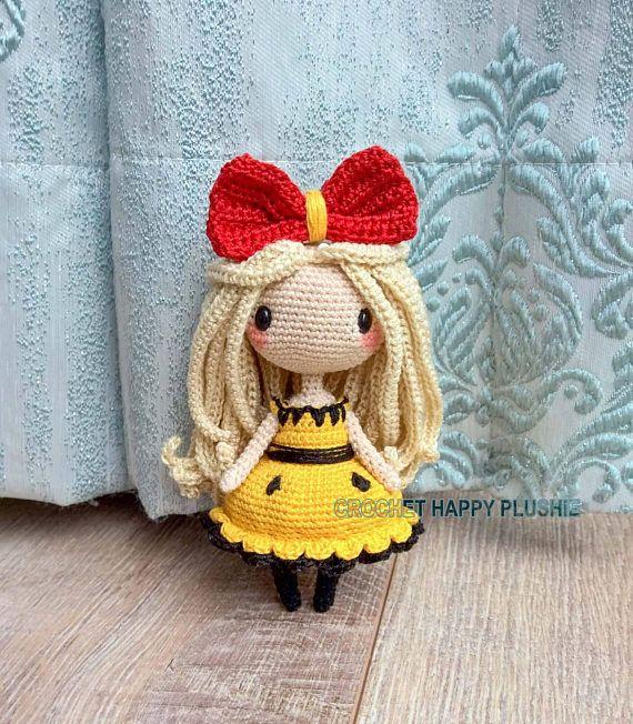 Crochet Pattern Miyu Chibi Amigurumi Cute Kawaii Doll