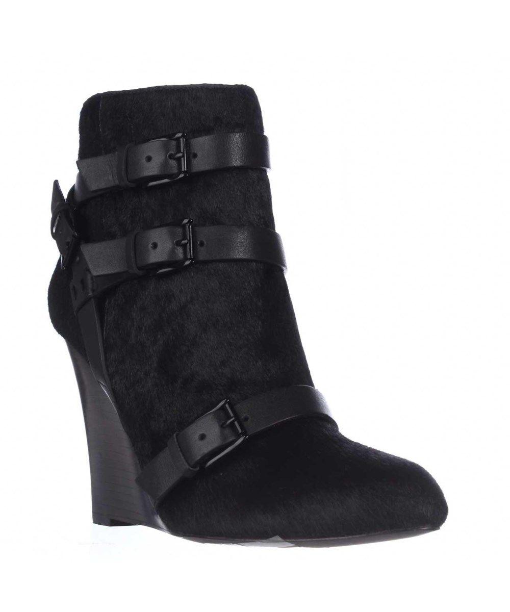 REBECCA MINKOFF Rebecca Minkoff Maggie Fur Wedge Booties - Black'. #rebeccaminkoff #shoes #boots & booties