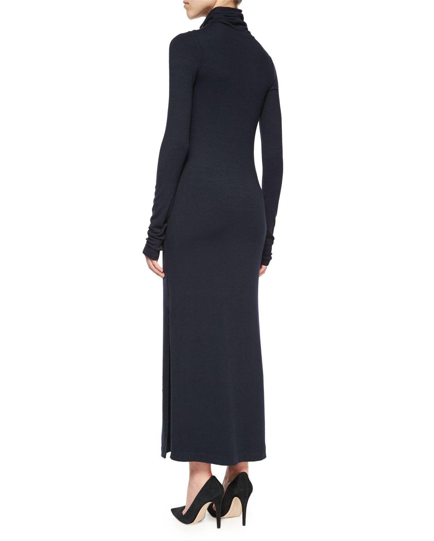 Longsleeve doubleslit turtleneck dress navy products