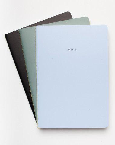 The School Of Life Set Of Three Minimalist Notebooks Cute School