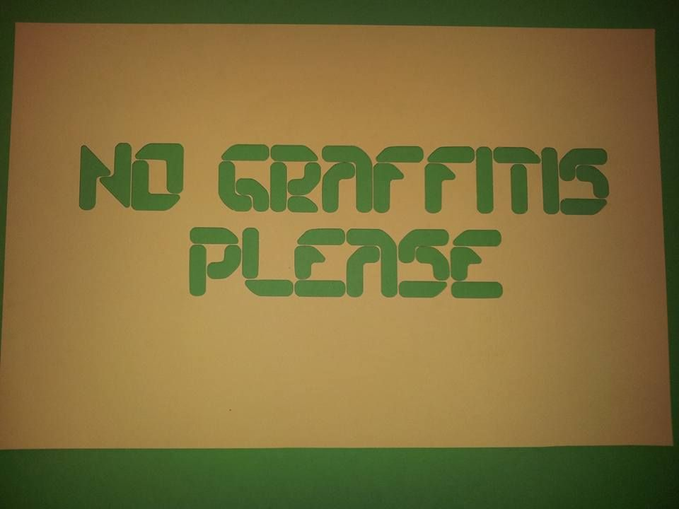 NO GRAFFITIS PLEASE 500X325mm