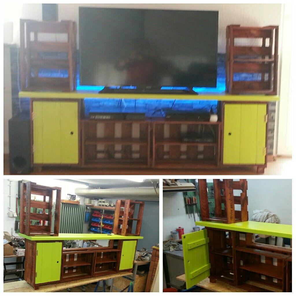 Selbstgebauter Fernsehschrank | DIY | Pinterest | Fernsehschrank
