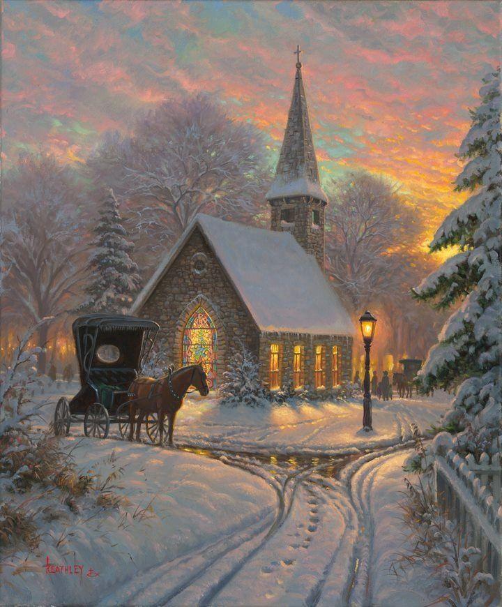 Thomas Kinkade | Thomas Kinkade | Pinterest | Christmas, Christmas ...