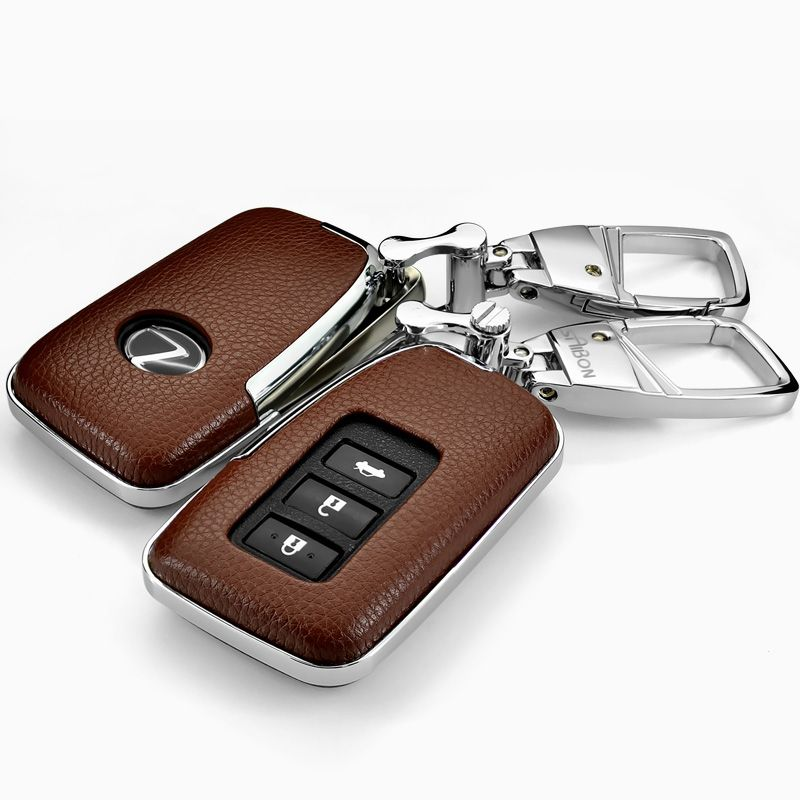 Leather Car Styling Key Cover Case For Lexus Nx Gs Rx Is Es Gx Lx Rc 200 250 350 Ls 450h 300h Auto Accessories Lexus Accessories Car Accessories Lexus