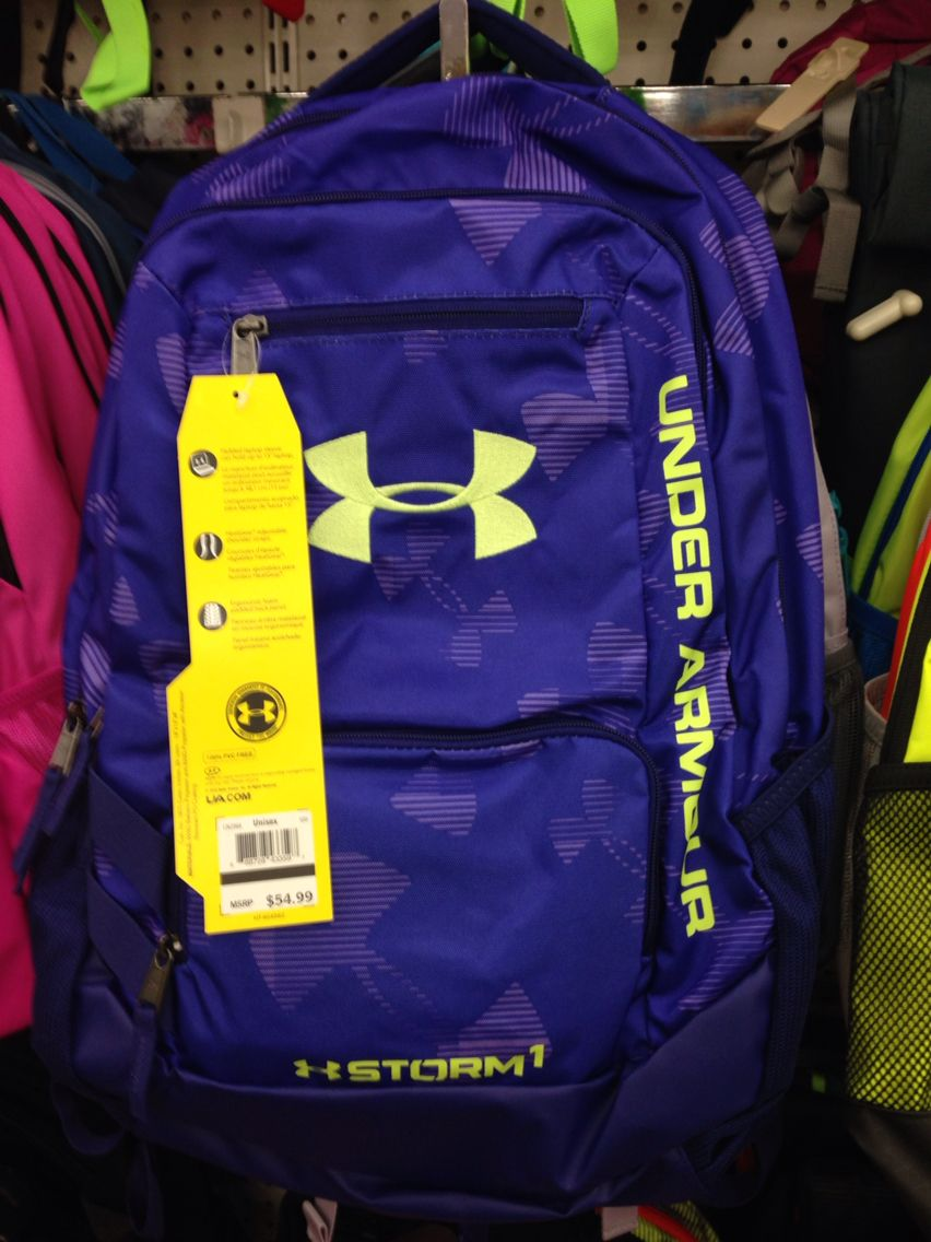 Purple Under Armour backpack!! I am getting this one!!!  4aa2ebbb4c34f