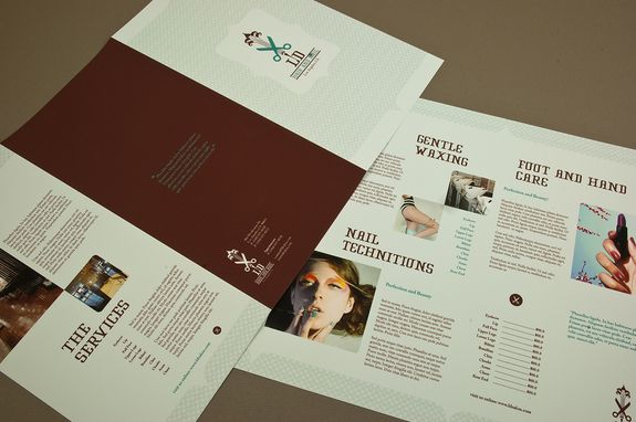 Hair And Nail Salon Brochure Template  A Beauty Salon Could