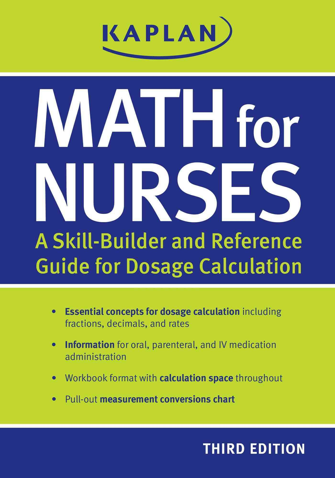 Math For Nurses A Skill Builder And Reference Guide For