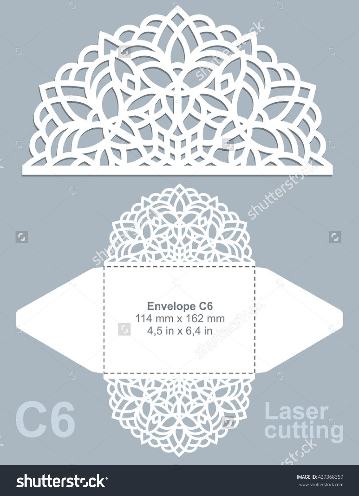 stock-vector-vector-die-cut-envelope-template-for-laser-cutting ...