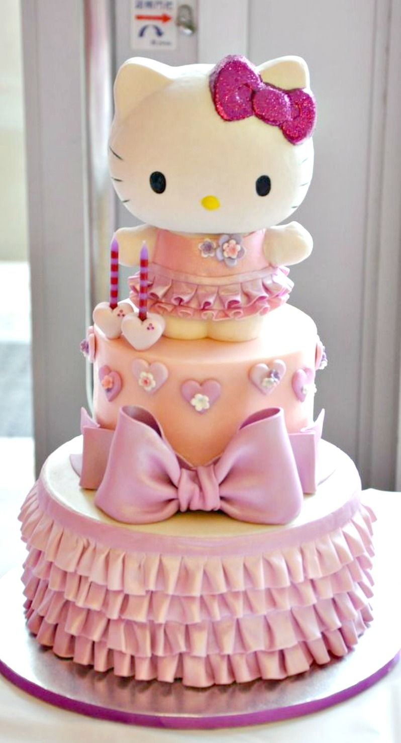 Fabulous Hello Kitty Cake Hello Kitty Birthday Cake Hello Kitty Cake Personalised Birthday Cards Cominlily Jamesorg