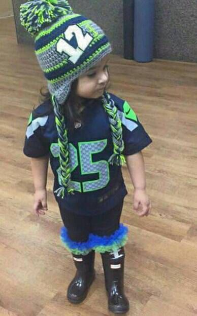 Seahawks Beanie Crocheted Seahawks Seahawks Hat By Atthelilypond