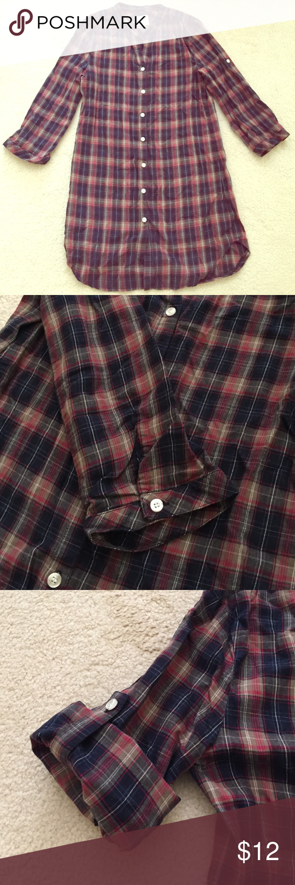 Flannel shirt and leggings  HuM flannel tunic  Plaid flannel Long flannel shirts and Flannel tunic