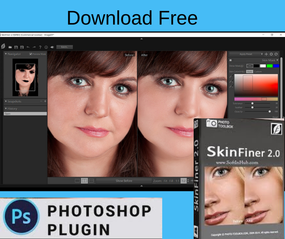 Download Free Photoshop plugin Skin Finer 2 is a notable portrait