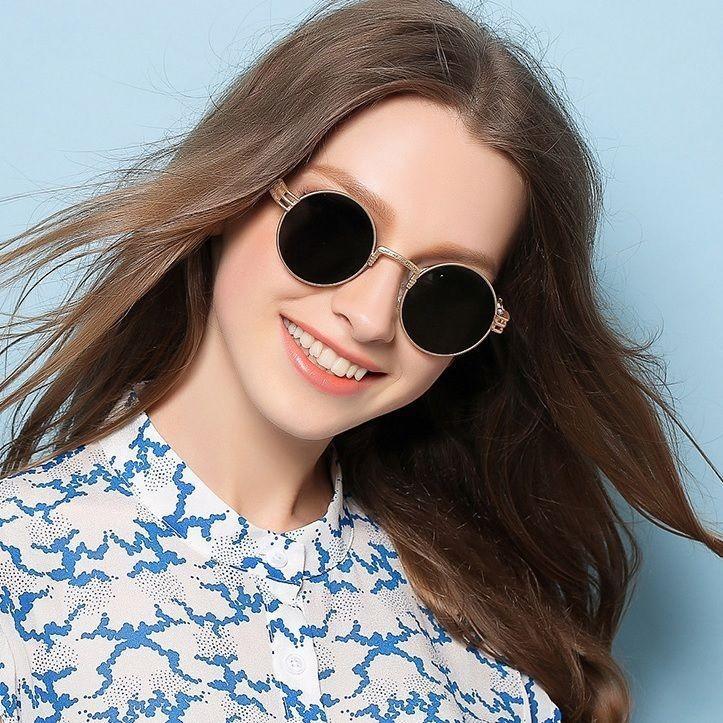 38cee439d0 Round Oval Style Men Women John Lennon Sunglasses Small Lens Fashion Shades