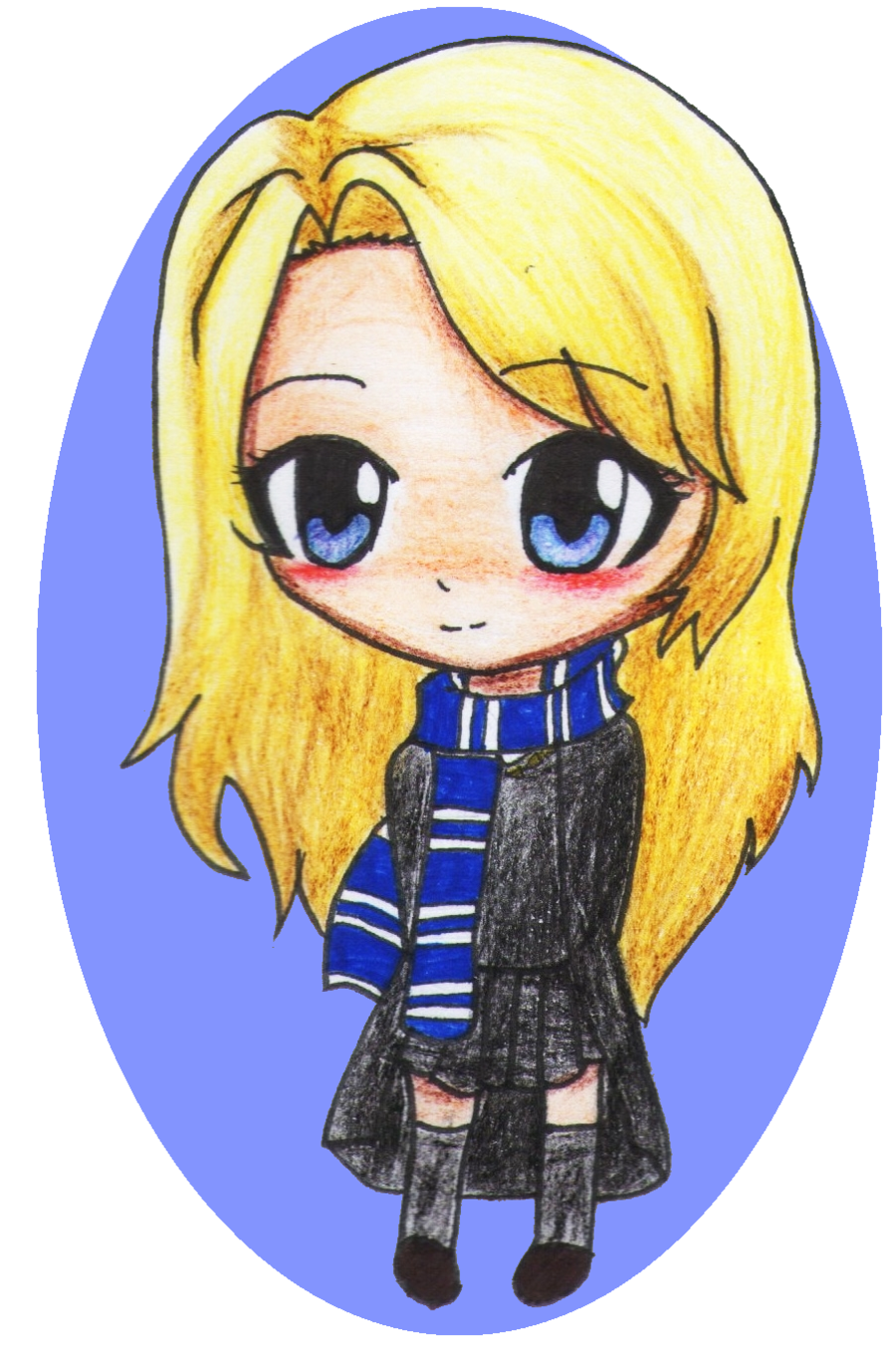 Pin De Sarai Hunter En Art Luna Lovegood Dibujos Kawaii Kawaii