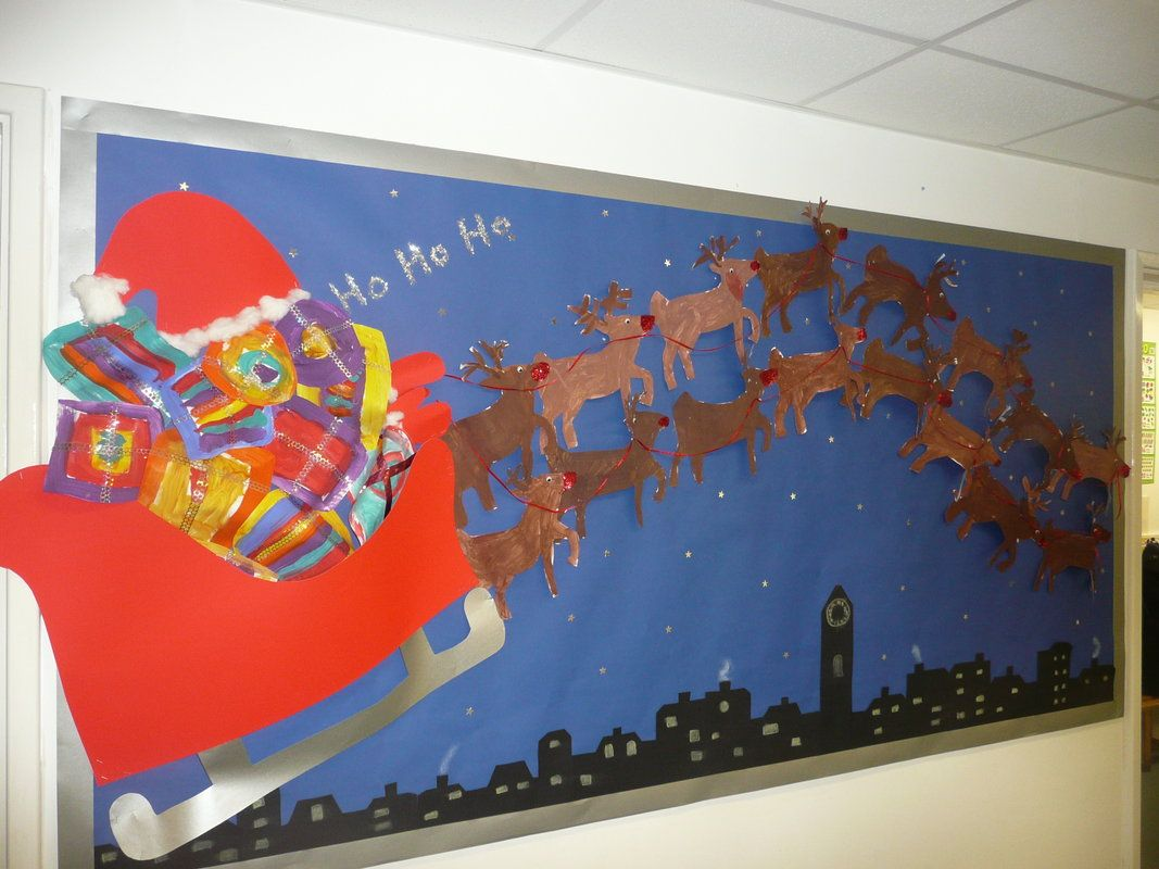 Christmas Decoration Ideas In Classroom : Christmas decorations for classrooms santa sledge