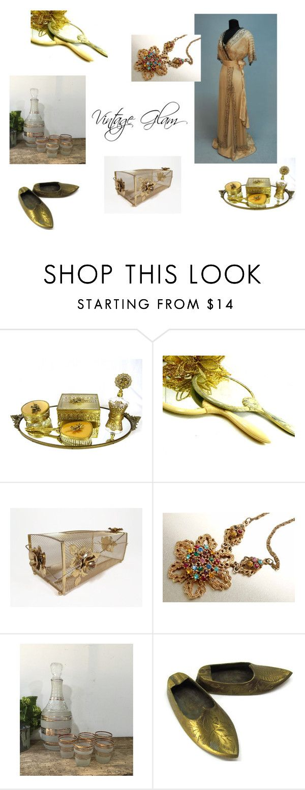 """Vintage Glam"" by my3luvbugsvintage ❤ liked on Polyvore featuring Dorothy Thorpe and vintage"
