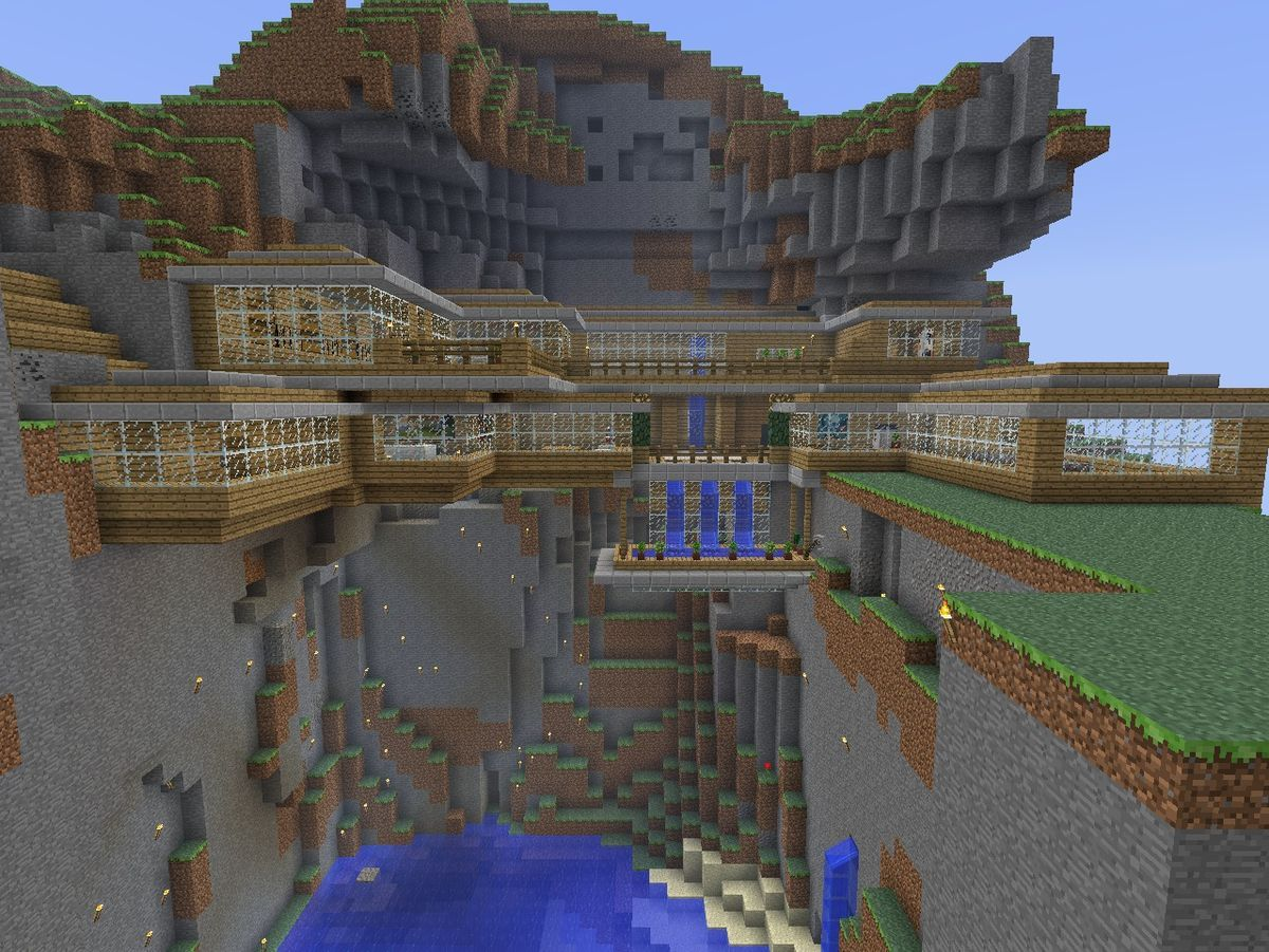 This Looks Awesome I D Want Glass Floors Too Minecraft Houses
