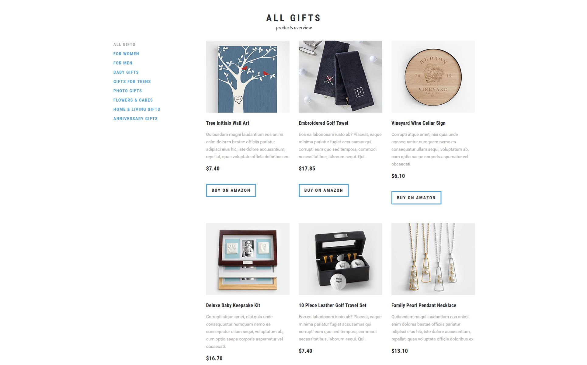 Gift Shop Multipage Html5 Template Online Gift Store Gift Shop Online Gifts