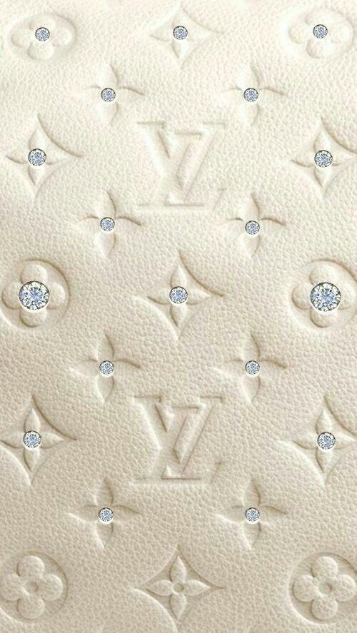Photo of louis vuitton logo stoff hvitt med rhinestones- louis vuitton logo stoff hvit