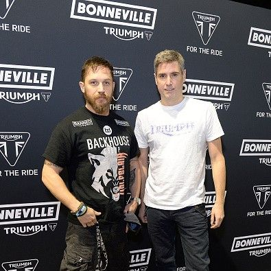 Tom Hardy  at the Triumph Motorcycle Launch Party in London - Oct. 28th 2015