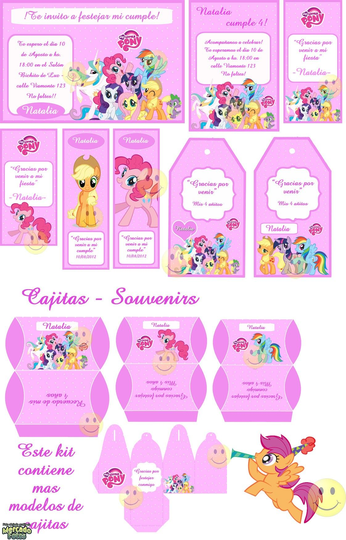 Kit Imprimible My Little Pony Tarjetas Y Mas Kits Personalizados A