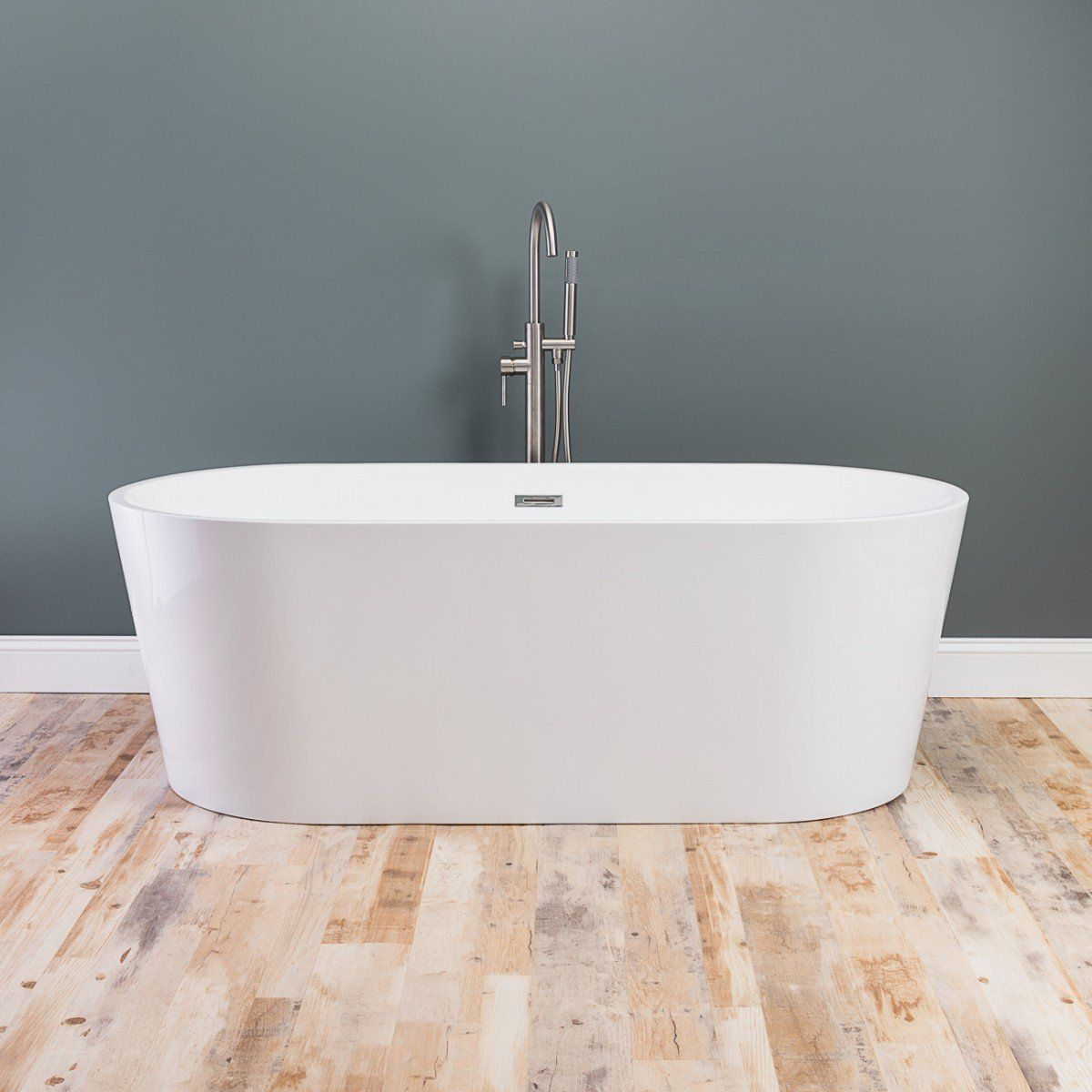 Mia Acrylic Double Ended Freestanding Tub No Faucet Drillings