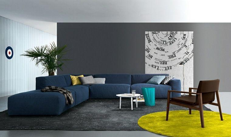 salon-canape-bleu-design-tapis-de-sol-moderne.jpg (760×452) | déco ...