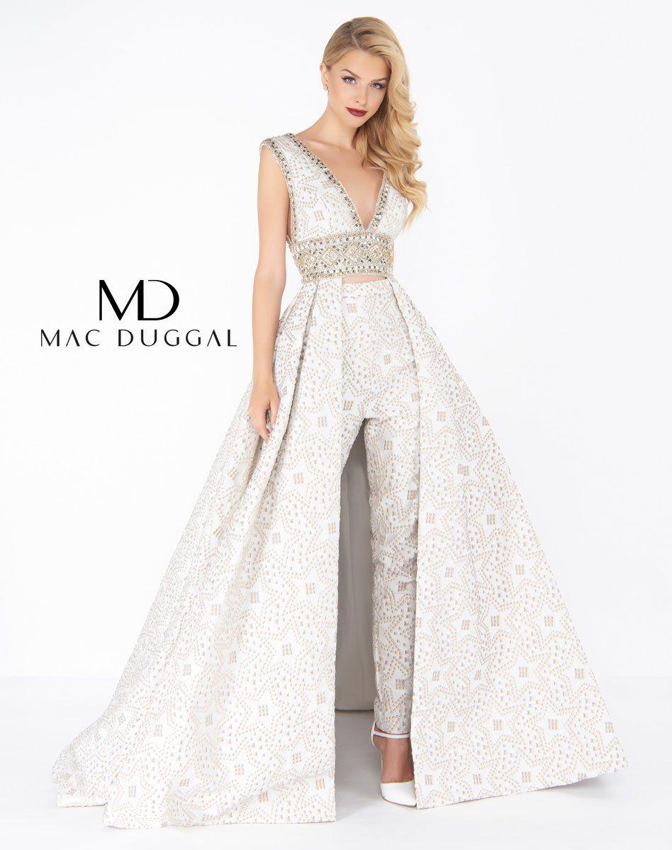 1a07bc6e37e2 ivory two piece formal dress. Mac Duggal 79149R. Mac Duggal 79149R Wedding  Pantsuit