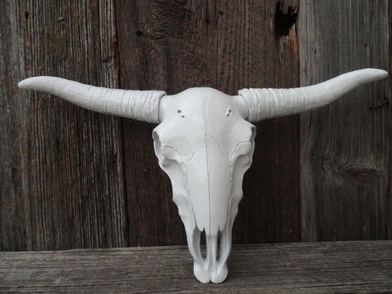Longhorn skull wall decorfaux taxidermywhite faux longhorncow longhorn skull wall decorfaux taxidermywhite faux longhorncow skullsteer amipublicfo Choice Image