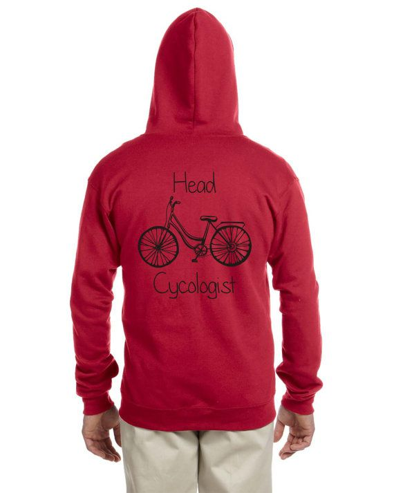Personalized Bicycling / Biking / Cycologist Zip Up Hoodie Sweatshirt / Sweater dp4BZ