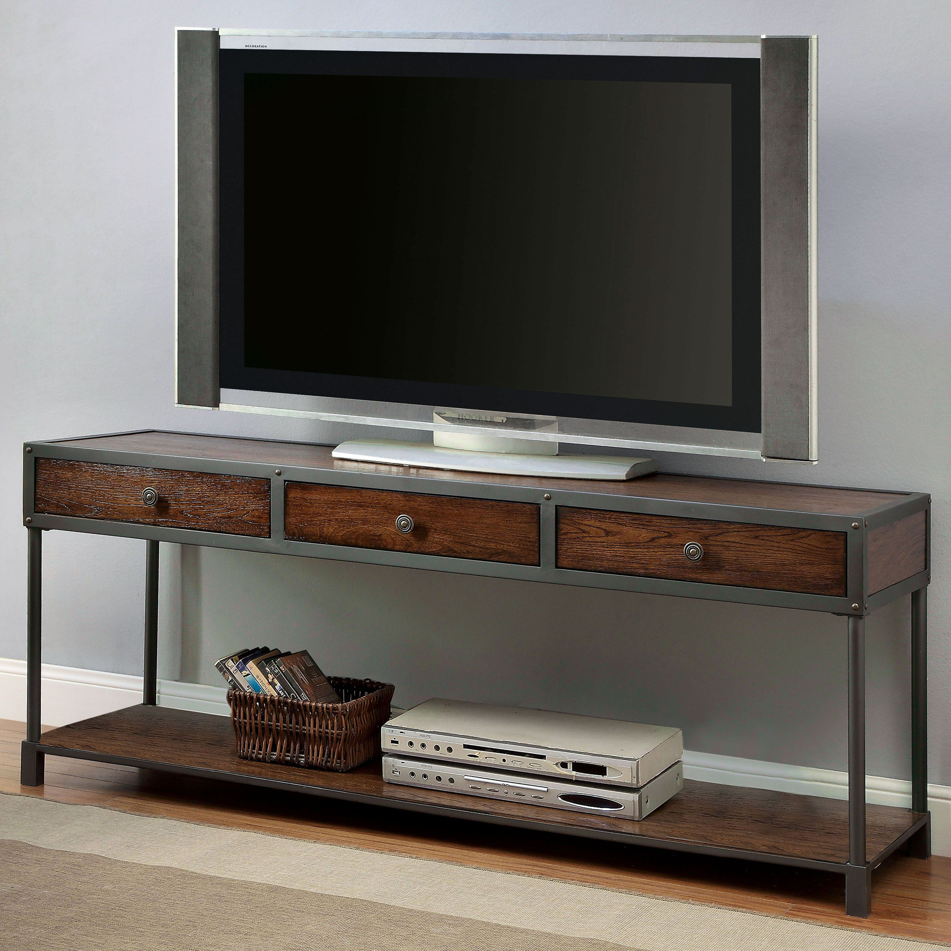Furniture Of America Holton Transitional 60 In Tv Console From
