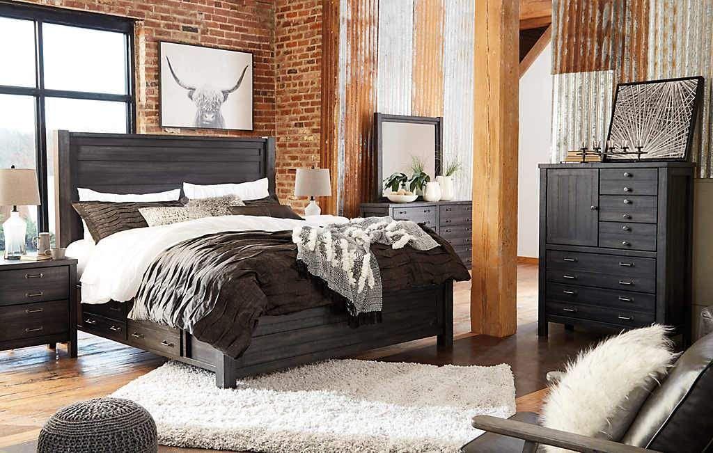 Baylow EXCLUSIVE Dresser Panel bed, Queen panel beds